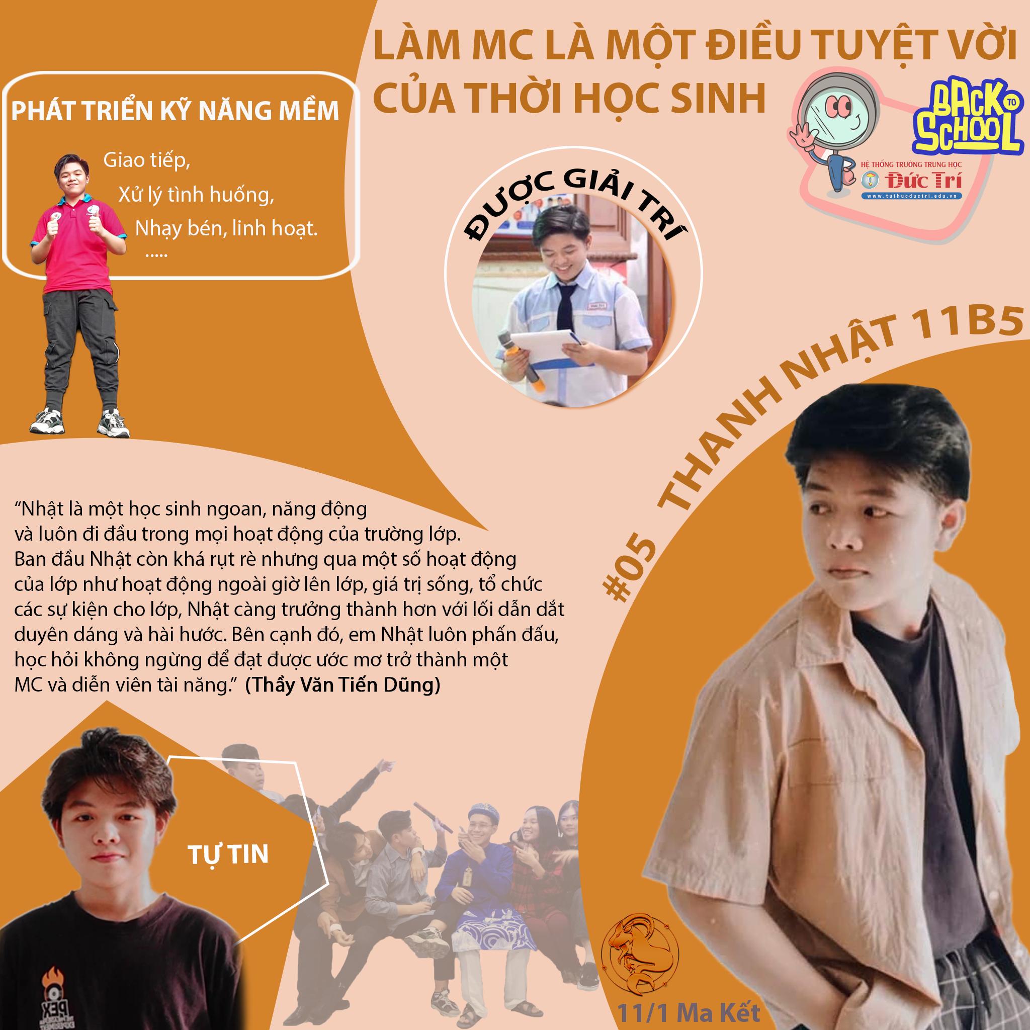 LÀM MC LÀ MỘT ĐIỀU TUYỆT VỜI CỦA THỜI HỌC SINH #05 PHỎNG VẤN BẠN THANH NHẬT 11B5