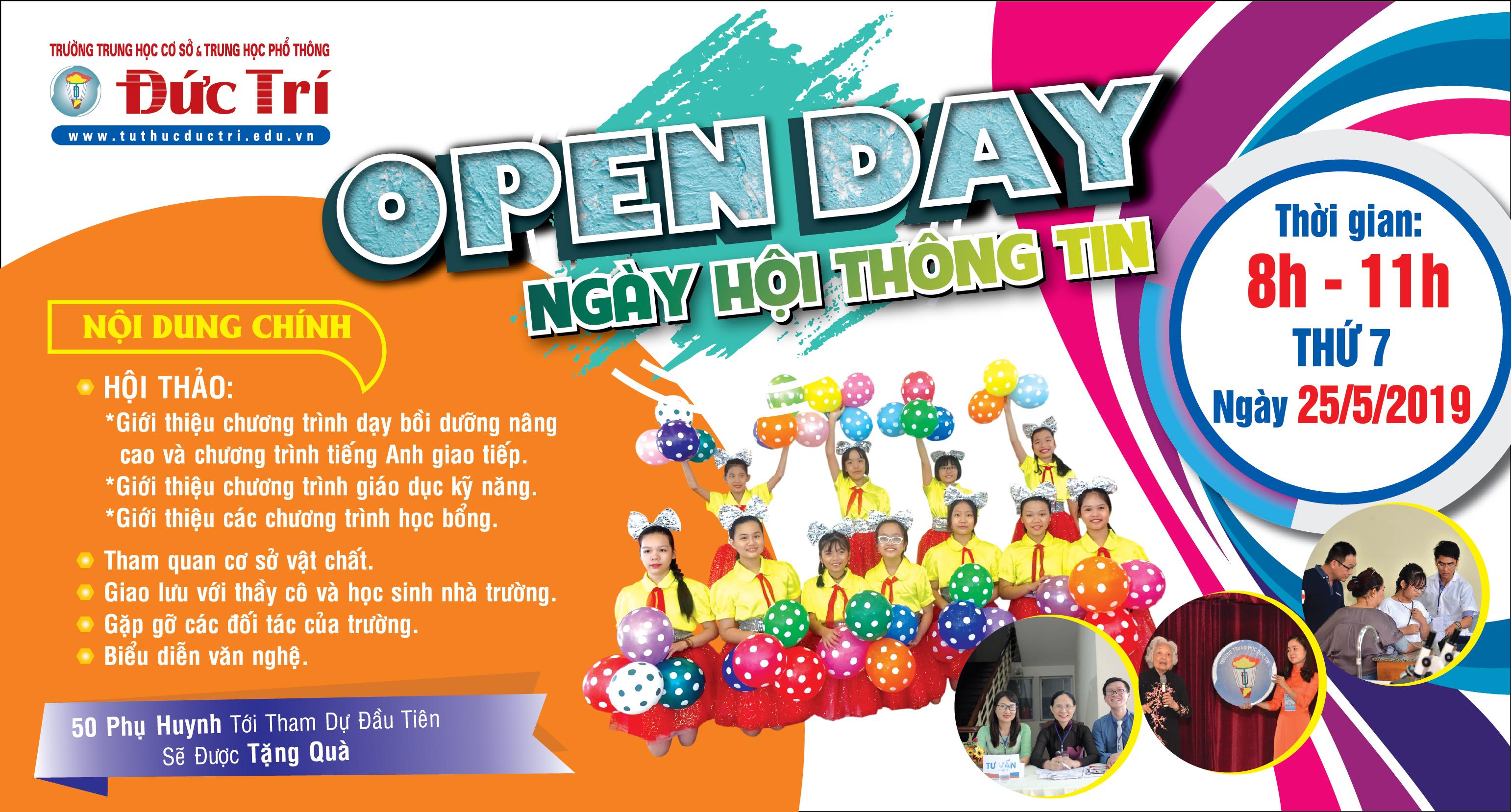 Ngày Hội Thông Tin Trường Đức Trí - Open Day 2019
