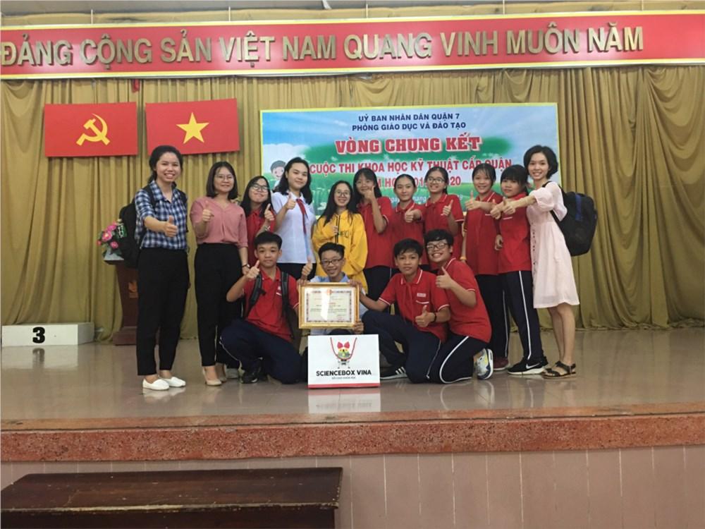 Trường Đức Trí đoạt giải Nhất Cuộc thi Khoa học kỹ thuật cấp quận