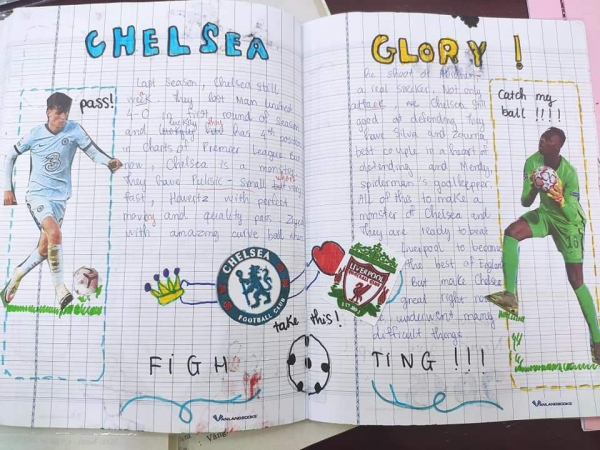 """Dự án writing tiếng Anh """"My favorite"""" bằng phương pháp sketchnote của lớp 8A1"""