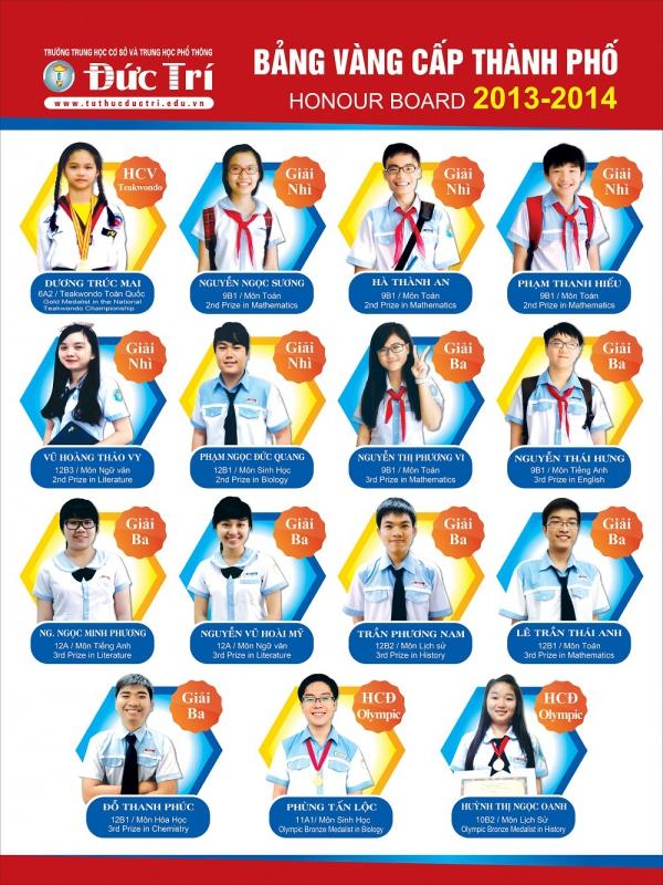 Bảng vàng học sinh giỏi và Huy chương Olympic